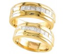 Two Piece Wedding Set 14K Yellow Gold 1.25 cts S19-2930