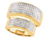 Two Piece Wedding Set 18K Yellow Gold 2.70cts S19-333418K