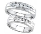 Two Piece Wedding Set 14K White Gold 1.25 cts. S19-910