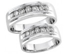 Two Piece Wedding Set 14K White Gold 0.95 cts. S19-1516