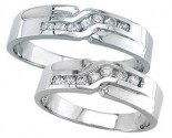 Two Piece Wedding Set 14K White Gold 0.50 cts. S19-1112