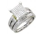 Ladies Two Piece Set 14K White Gold 1.35 cts. A62-R0422-WY
