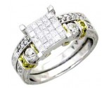 Ladies Two Piece Set 14K White Gold 1.15 cts. A62-R0431-WY