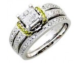 Ladies Two Piece Set 14K White Gold 0.80 cts. A62-R0445-WY