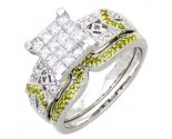 Ladies Two Piece Set 14K White Gold 1.00 cts. A62-R0479-WY