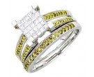 Ladies Two Piece Set 14K White Gold 0.75 cts. A62-R0495-WY
