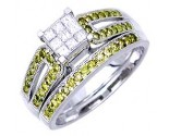 Ladies Two Piece Set 14K White Gold 0.80 cts. A62-R0496-WY