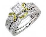 Ladies Two Piece Set 14K White Gold 0.80 cts. A62-R0503-WY