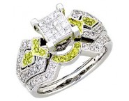 Ladies Two Piece Set 14K White Gold 1.10 cts. A62-R0615-WY