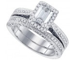 Ladies Two Piece Set 14K White Gold 1.73 cts. GD-84432
