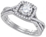 Ladies Two Piece Set 14K White Gold 1.05 cts. GD-85051