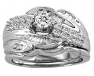 Ladies Two Piece Set 14K White Gold 1.03 cts. CL-11828