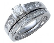 Diamond Bridal Ring Set 14K White Gold 1.00 ct. CL-13173 [GD-15421]