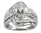 Ladies Two Piece Set 14K White Gold 0.70 cts. CL-14893