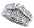 Diamond Bridal Ring Set 14K White Gold 1.00 ct. CL-15421