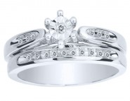 Ladies Two Piece Set 10K White Gold 0.10 cts. CL-16600 [CL-16600]