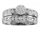 Ladies Two Piece Set 14K White Gold 0.45 cts. CL-17316