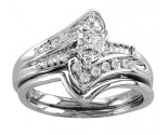 Ladies Two Piece Set 14K White Gold 0.27 cts. CL-18686