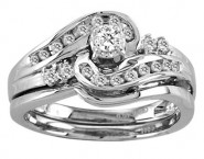 Ladies Two Piece Set 14K White Gold 0.27 cts. CL-18687 [CL-18687]