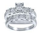 Ladies Two Piece Set 10K White Gold 0.16 cts. CL-19037