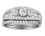Ladies Two Piece Set 14K White Gold 1.00 ct. CL-19094