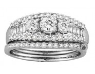 Ladies Two Piece Set 14K White Gold 1.00 ct. CL-19094 [CL-19094]
