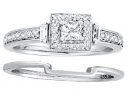 Ladies Two Piece Set 14K White Gold 0.50 cts. CL-19258