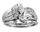 Ladies Two Piece Set 14K White Gold 0.27 cts. CL-20576