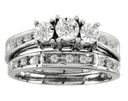 Ladies Two Piece Set 10K White Gold 0.20 cts. CL-21150