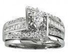 Ladies Two Piece Set 14K White Gold 0.65 cts. CL-21155