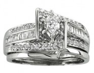 Ladies Two Piece Set 14K White Gold 0.65 cts. CL-21155 [CL-21155]