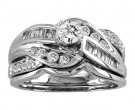 Ladies Two Piece Set 14K White Gold 0.77 cts. CL-21162