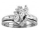 Ladies Two Piece Set 14K White Gold 1.00 ct. CL-21169
