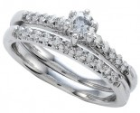 Ladies Two Piece Set 14K White Gold 0.50 cts. CL-21876