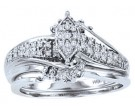 Ladies Two Piece Set 10K White Gold 0.09 cts. CL-22058