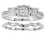 Ladies Two Piece Set 10K White Gold 0.05 cts. CL-22059