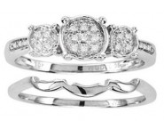Ladies Two Piece Set 10K White Gold 0.05 cts. CL-22059 [CL-22059]