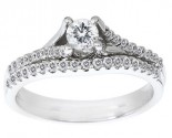 Ladies Two Piece Set 14K White Gold 0.50 cts. CL-22078
