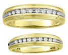 Two Piece Wedding Set 14K Yellow Gold 0.20 cts. CL-22501