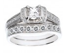Ladies Two Piece Set 14K White Gold 1.31 cts. CL-22684