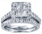 Ladies Two Piece Set 14K White Gold 0.61 cts. GD-24666