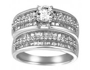 Ladies Two Piece Set 14K White Gold 1.90 cts. CL-24684