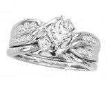 Ladies Two Piece Set 14K White Gold 0.90 cts. CL-24686