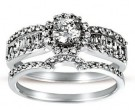Ladies Two Piece Set 14K White Gold 1.00 cts. CL-24733
