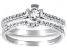 Ladies Two Piece Set 14K White Gold 0.54 cts. CL-24736