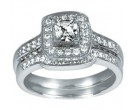 Ladies Two Piece Set 14K White Gold 1.00 cts. CL-25668