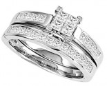 Diamond Bridal Ring Set 14K White Gold 0.33 cts. CL-26660
