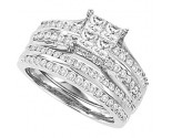 Ladies Two Piece Set 14K White Gold 1.35 cts. CL-28626