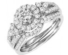Ladies Two Piece Set 14K White Gold 1.05 cts. CL-28814
