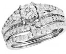 Ladies Two Piece Set 14K White Gold 1.00 ct. CL-28815
